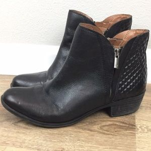 Lucky Brand Booties Size 10M Boots Black Leather